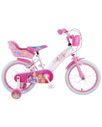 Bicicleta pentru copii Disney Princess - Fete - 16 inch - Roz - 2 frane de mana culoare Roz/Alb