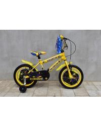 """Bicicleta copii Vision Fanatic, culoare galben/negru, roata 16"""", cadru otel"""