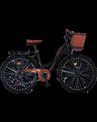 "Bicicleta City Vision Holiday , Culoare Negru/Maro Roata 26"" Otel"