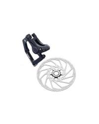 Etrier Frana Pe Disc & Rotor Shimano Hone Br-M601, Fata, Incl. Sm-Ma-F203P/S (Wire) Pt. Furca Standard, Placute Metal, Rotor Sm-Rt62L, Ambalat Ind.
