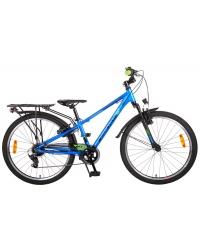 Bicicleta Volare Cross pentru copii - Baieti - 24 inch - Albastru - 6 trepte - Prime Collection culoare Albastru