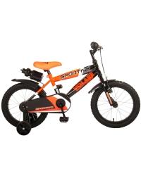 Bicicleta pentru copii Volare Sportivo - Baieti - 16 inch - Neon Orange Black - 95 asamblat culoare Neon Portocaliu Negru