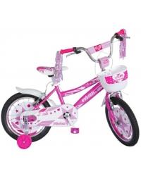 "Bicicleta Copii Vision Faworis Culoare Roz/Alb Roata 16"" Otel"